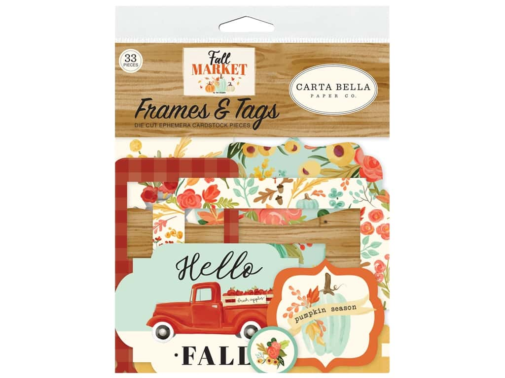 Carta Bella Collection Fall Market Frames & Tags