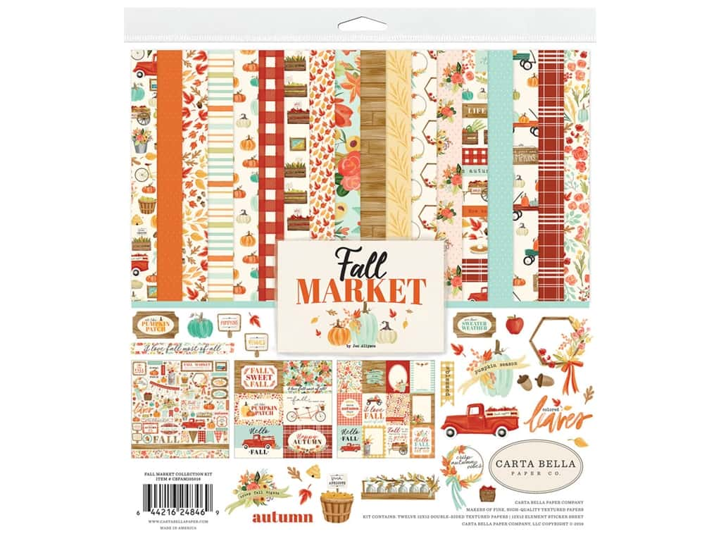 """Carta Bella Collection Fall Market Collection Kit 12""""x 12"""""""