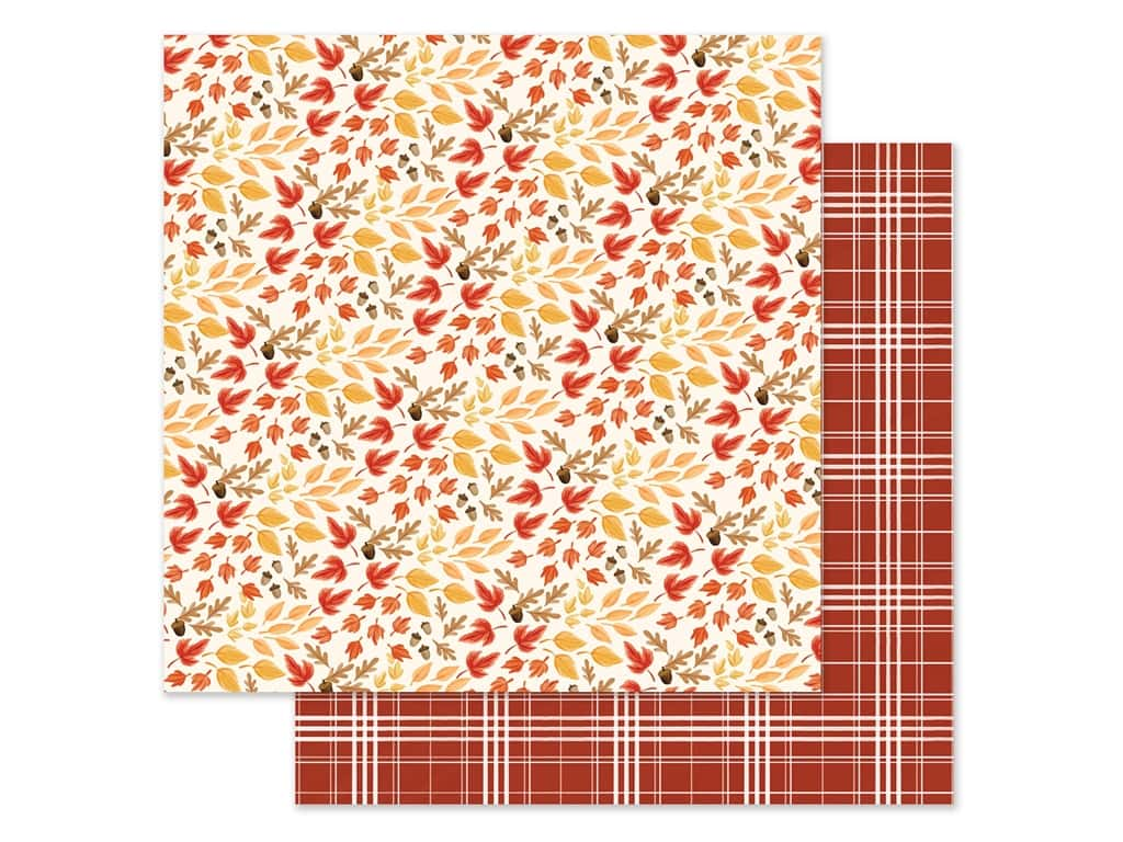 "Carta Bella Collection Fall Market Paper 12""x 12"" Rustling Leaves (25 pieces)"