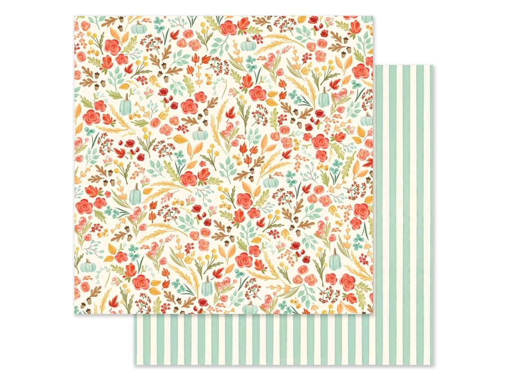 """Carta Bella Collection Fall Market Paper 12""""x 12"""" Fall Floral (25 pieces)"""