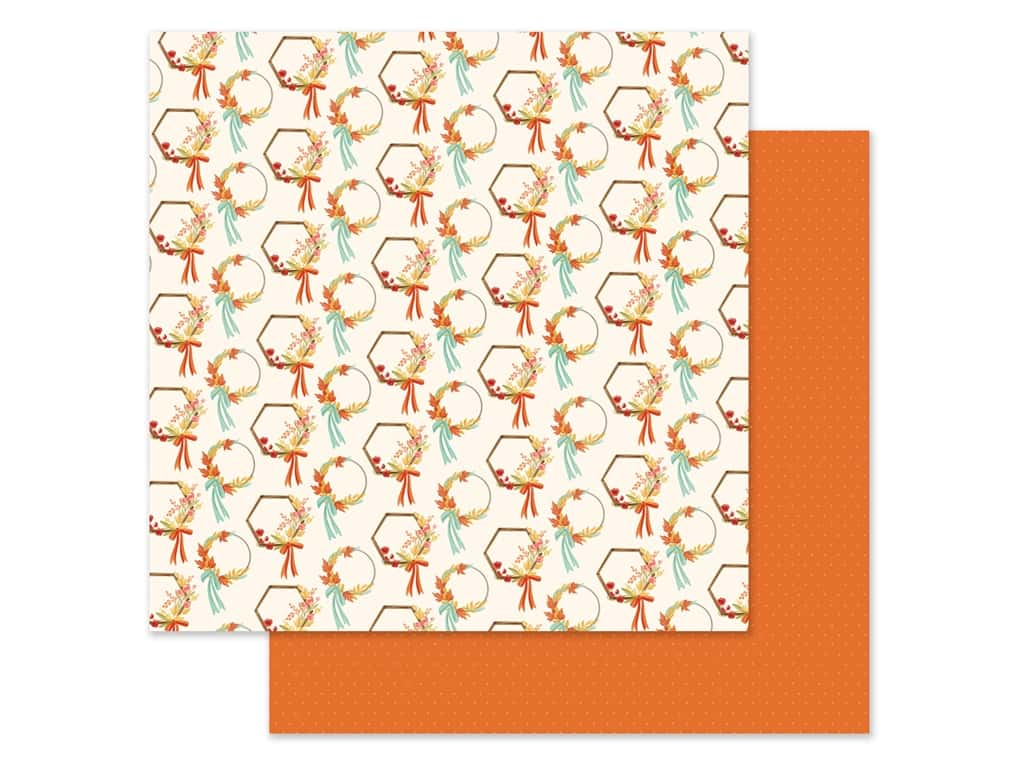 "Carta Bella Collection Fall Market Paper 12""x 12"" Wreaths (25 pieces)"