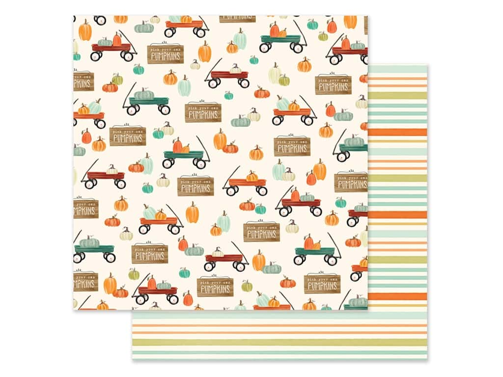 "Carta Bella Collection Fall Market Paper 12""x 12"" Wagon Time (25 pieces)"