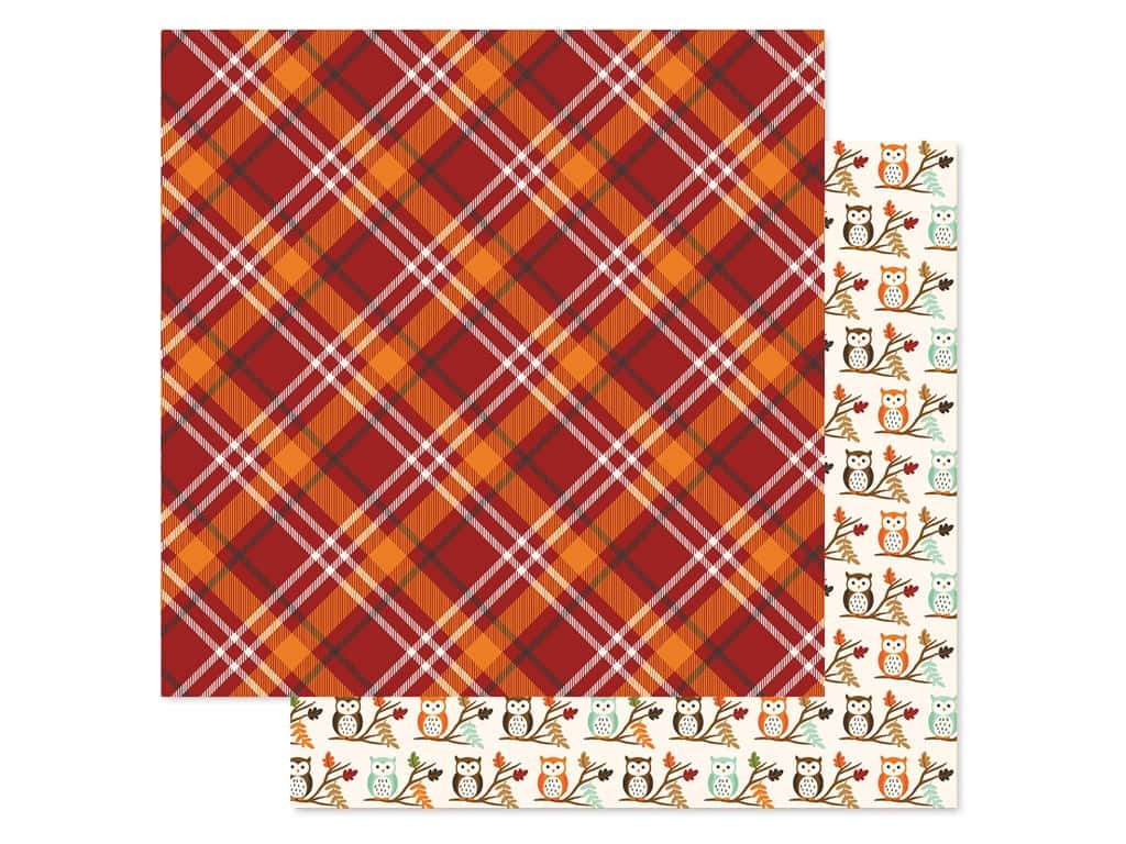 """Echo Park Collection My Favorite Fall Paper 12""""x 12"""" Fall Plaid (25 pieces)"""
