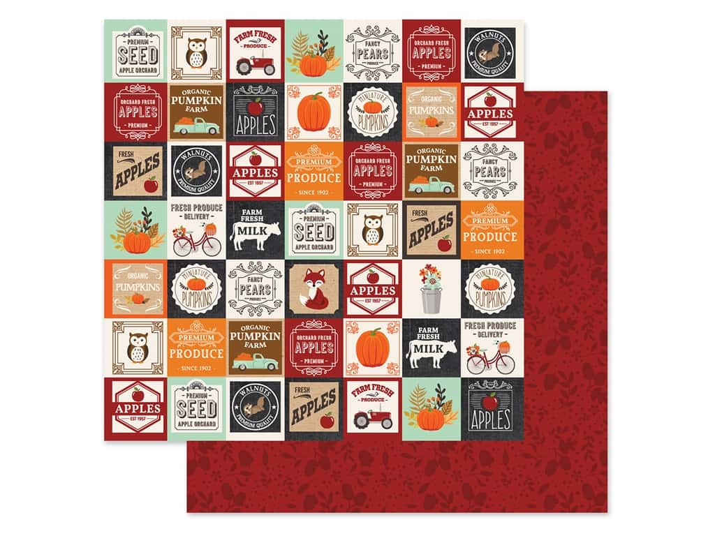 """Echo Park Collection My Favorite Fall Paper 12""""x 12"""" Farm Square (25 pieces)"""