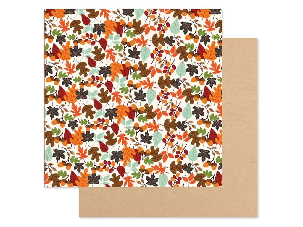 """Echo Park Collection My Favorite Fall Paper 12""""x 12"""" Falling Leaves (25 pieces)"""