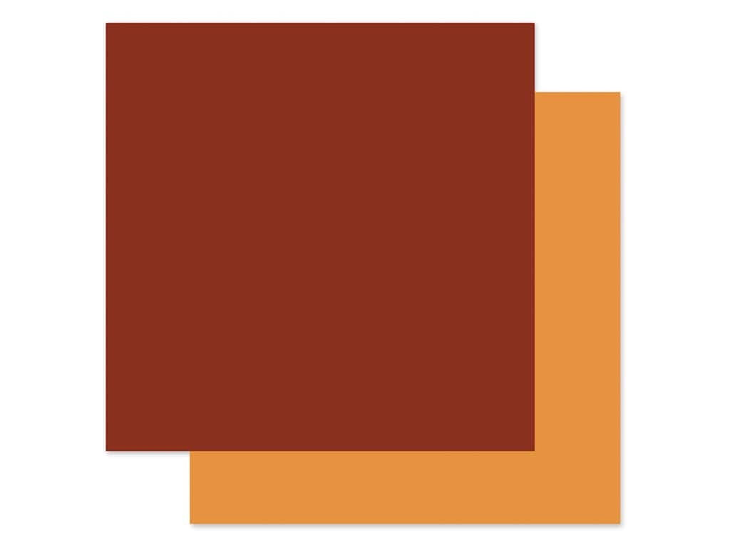 "Echo Park Collection My Favorite Fall Paper 12""x 12"" Red/Light Orange (25 pieces)"