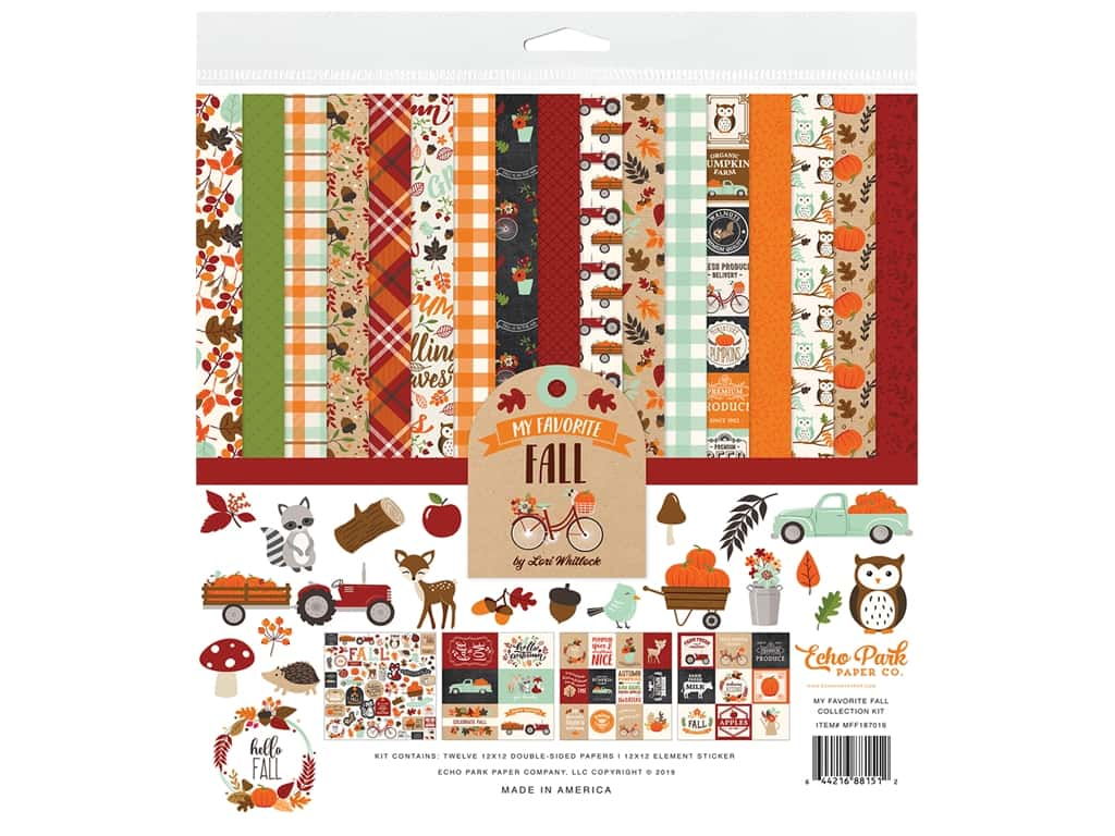 """Echo Park Collection My Favorite Fall Collection Kit 12""""x 12"""""""