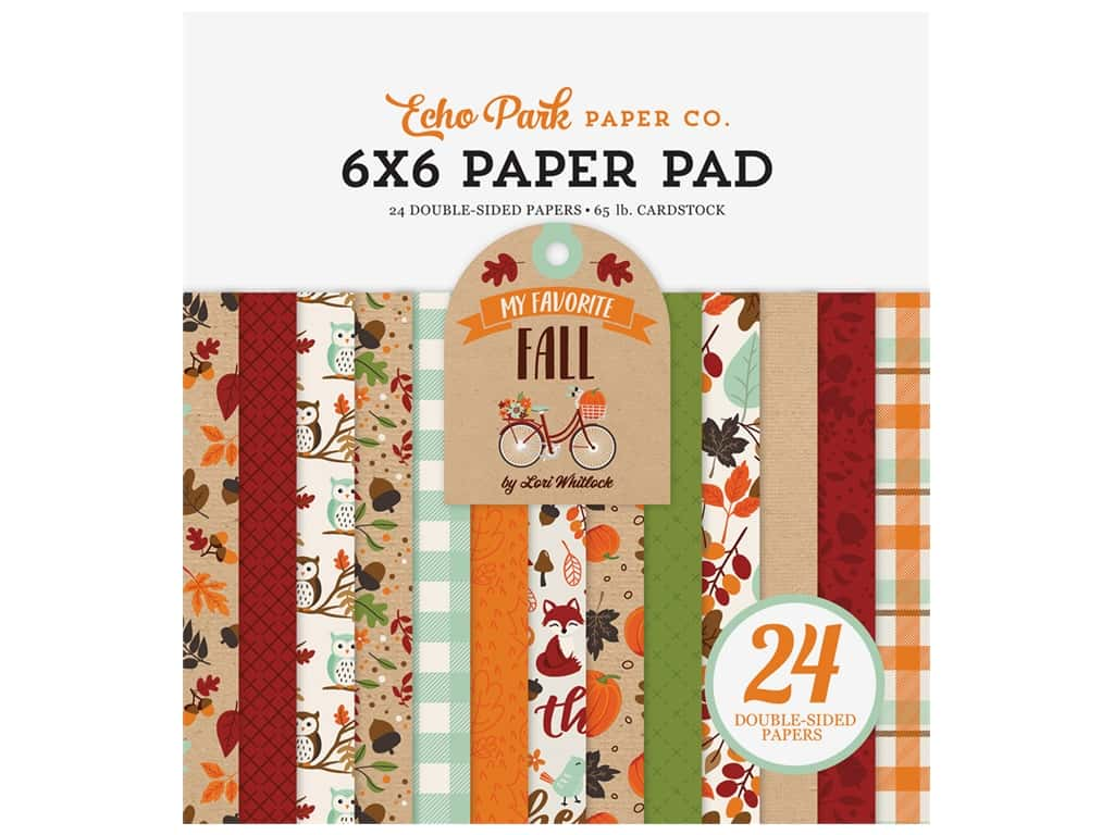 """Echo Park Collection My Favorite Fall Paper Pad 6""""x 6"""""""