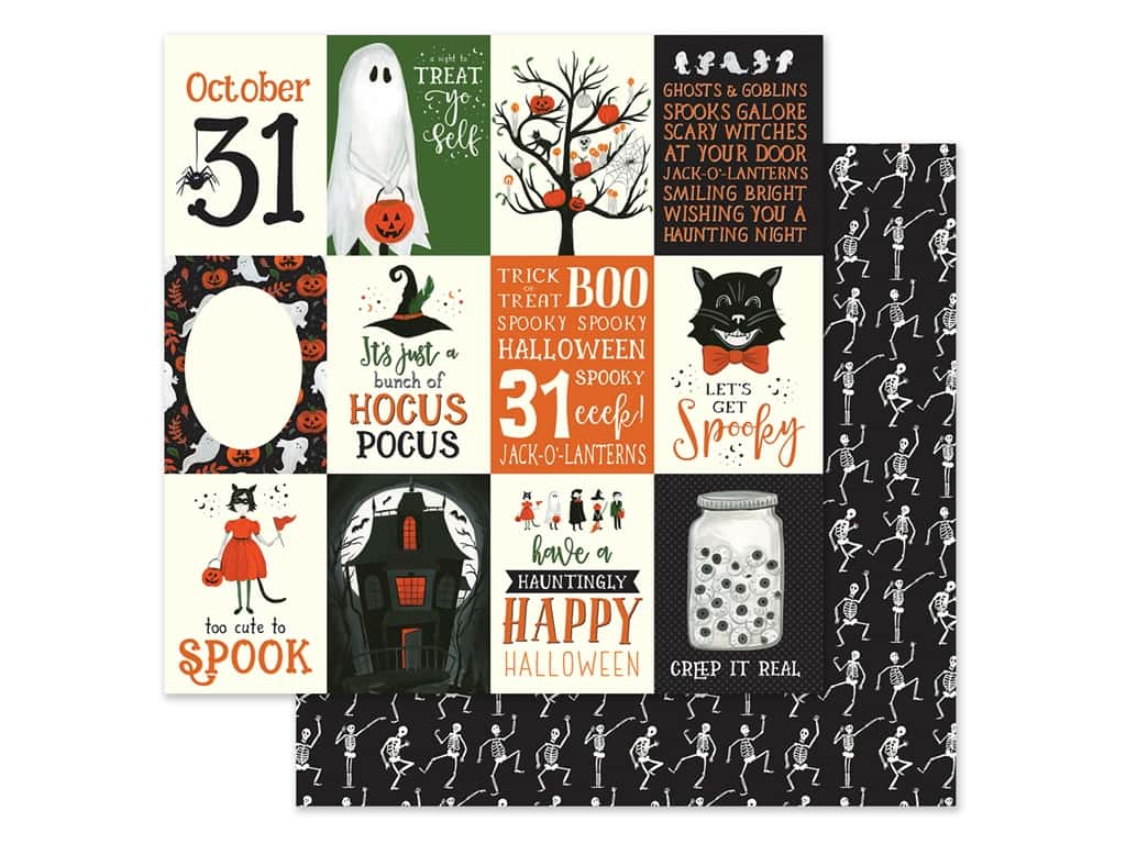 "Echo Park Collection Trick Or Treat Paper 12""x 12"" Journaling Cards 3""x 4"" (25 pieces)"
