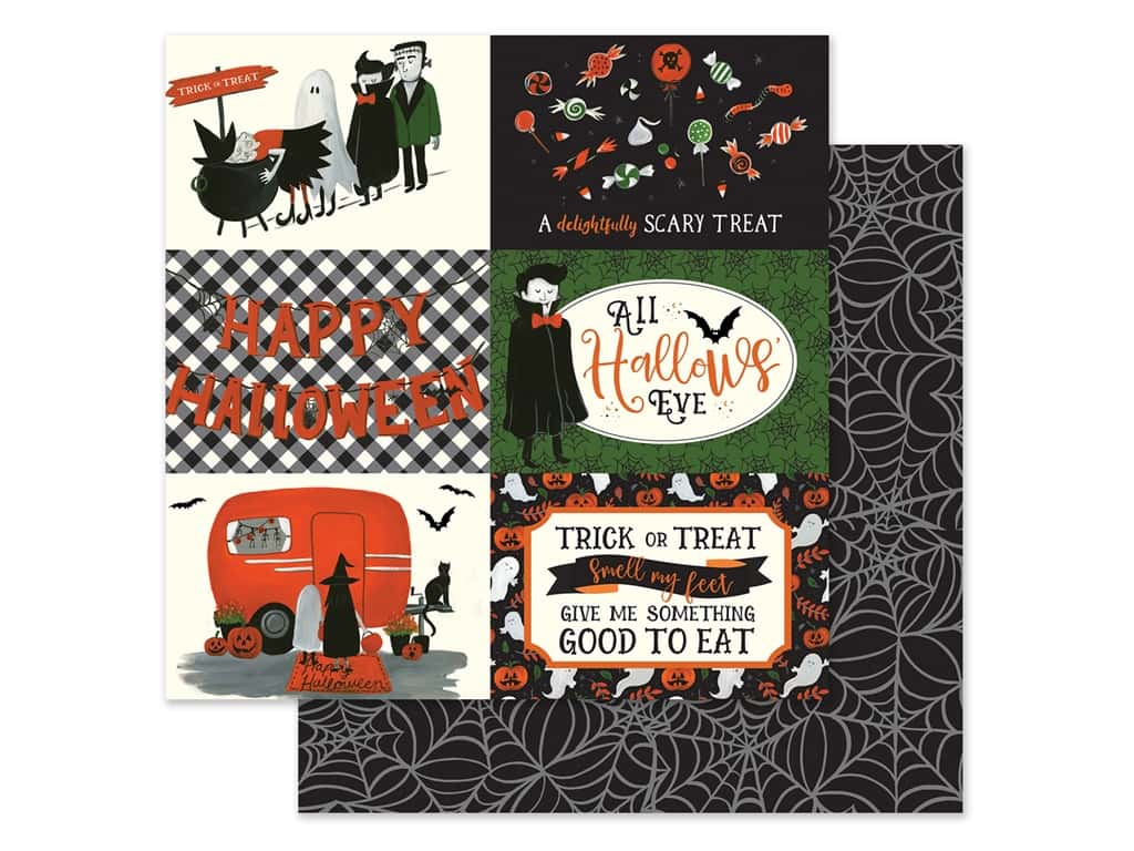 "Echo Park Collection Trick Or Treat Paper 12""x 12"" Journaling Cards 4""x 6"" Horizontal (25 pieces)"