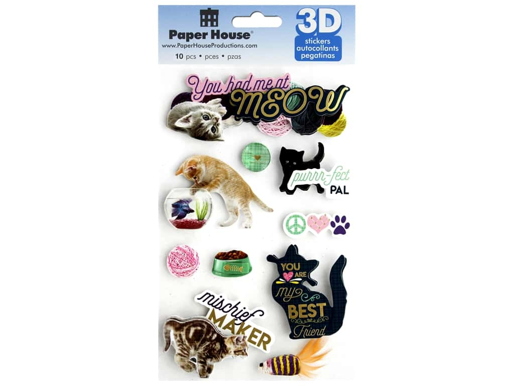 Paper House Sticker 3D You Had Me At Meow
