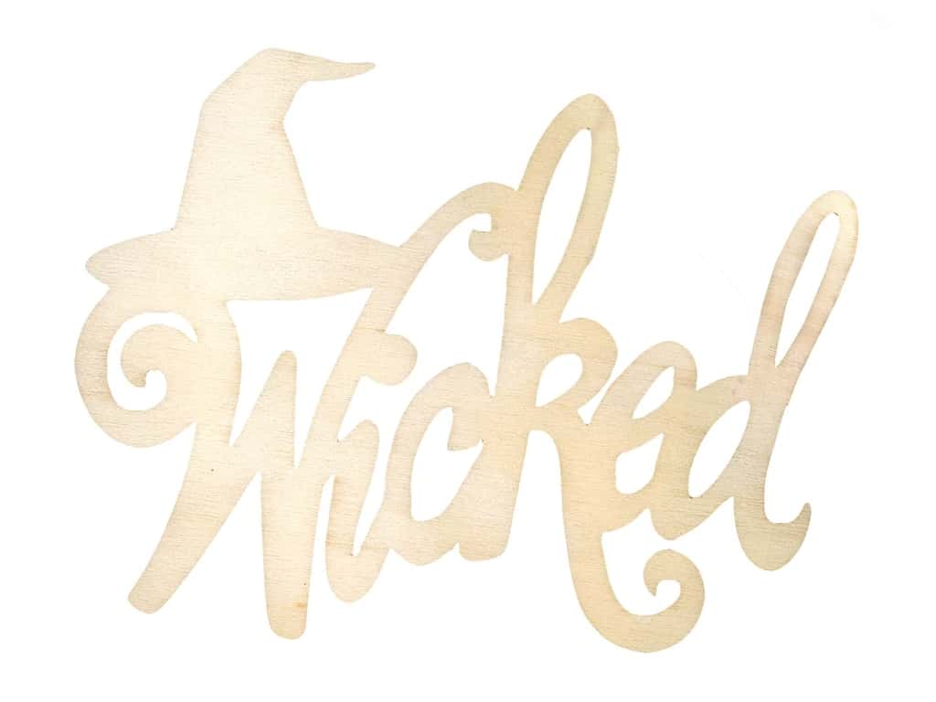 Darice Wood Cut Out Word Wicked Unfinished
