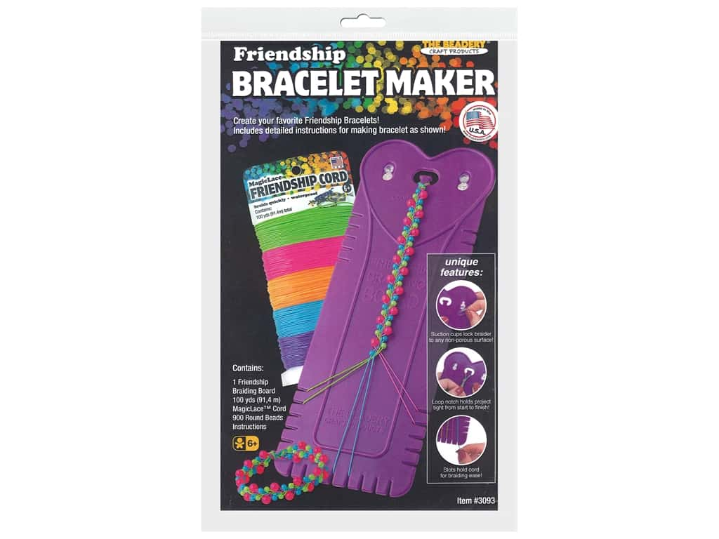 The Beadery Tool Friendship Braiding Board Magic Lace Set