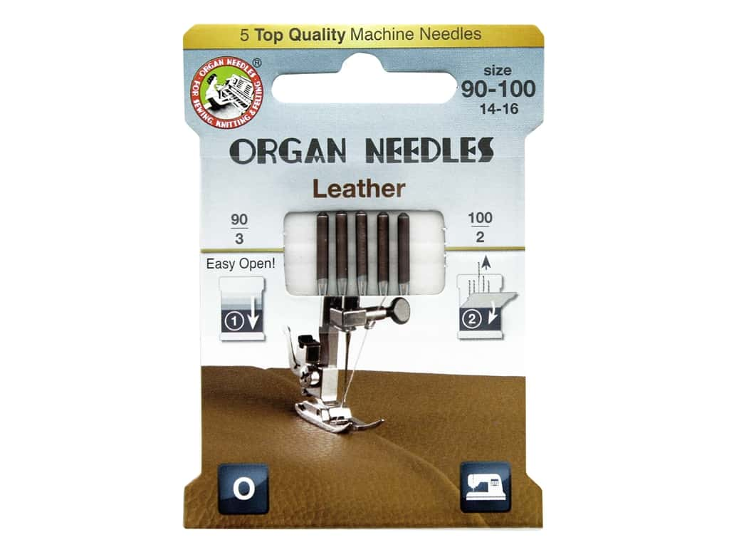 Organ Needle Company Machine Needles Leather Size 90-100 5 pc
