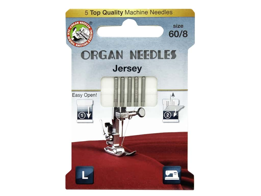 Organ Needle Company Machine Needles Jersey Size 60/8 5 pc