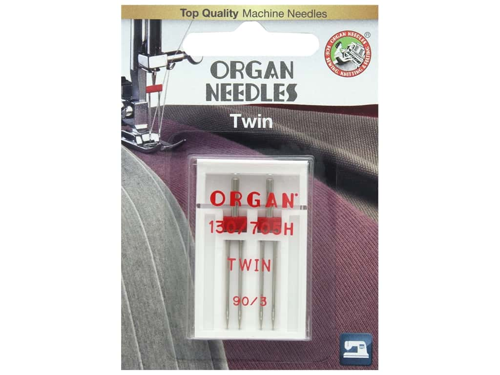 Organ Needle Company Machine Needles Twin Size 90/3mm 2 pc