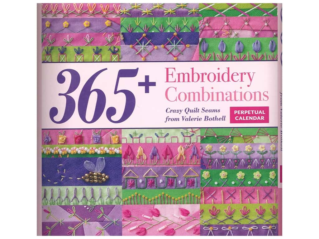 365+ Embroidery Combinations Perpetual Calendar