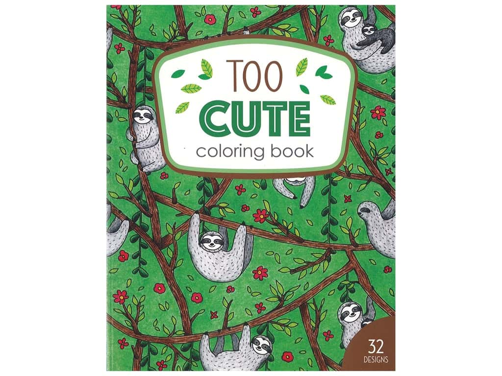 Leisure Arts Too Cute Coloring Book