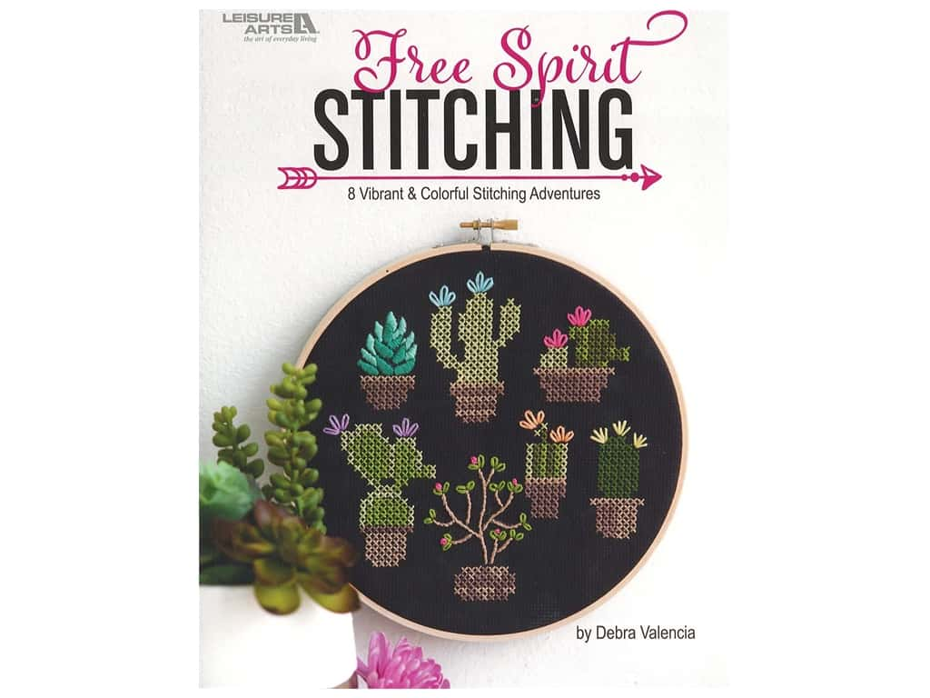 Leisure Arts Free Spirit Stitching Embroidery Book