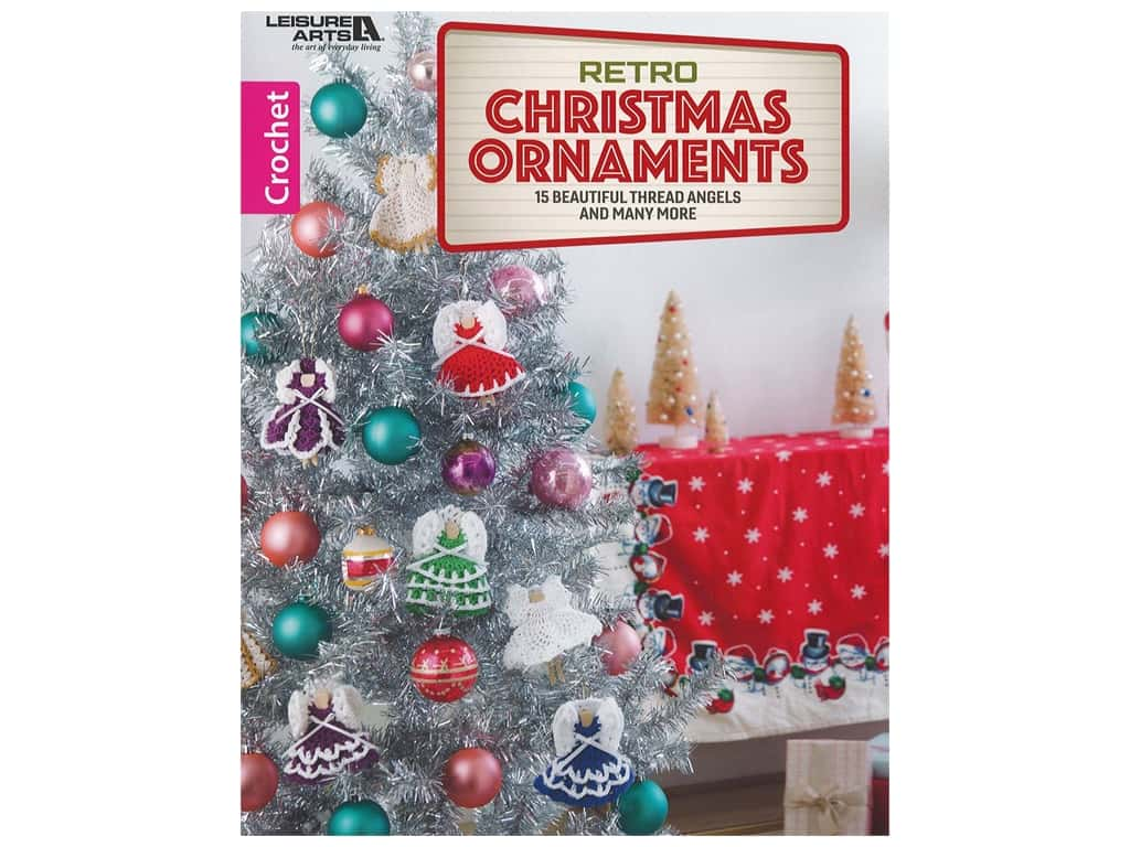 Leisure Arts Retro Christmas Ornaments Crochet Book