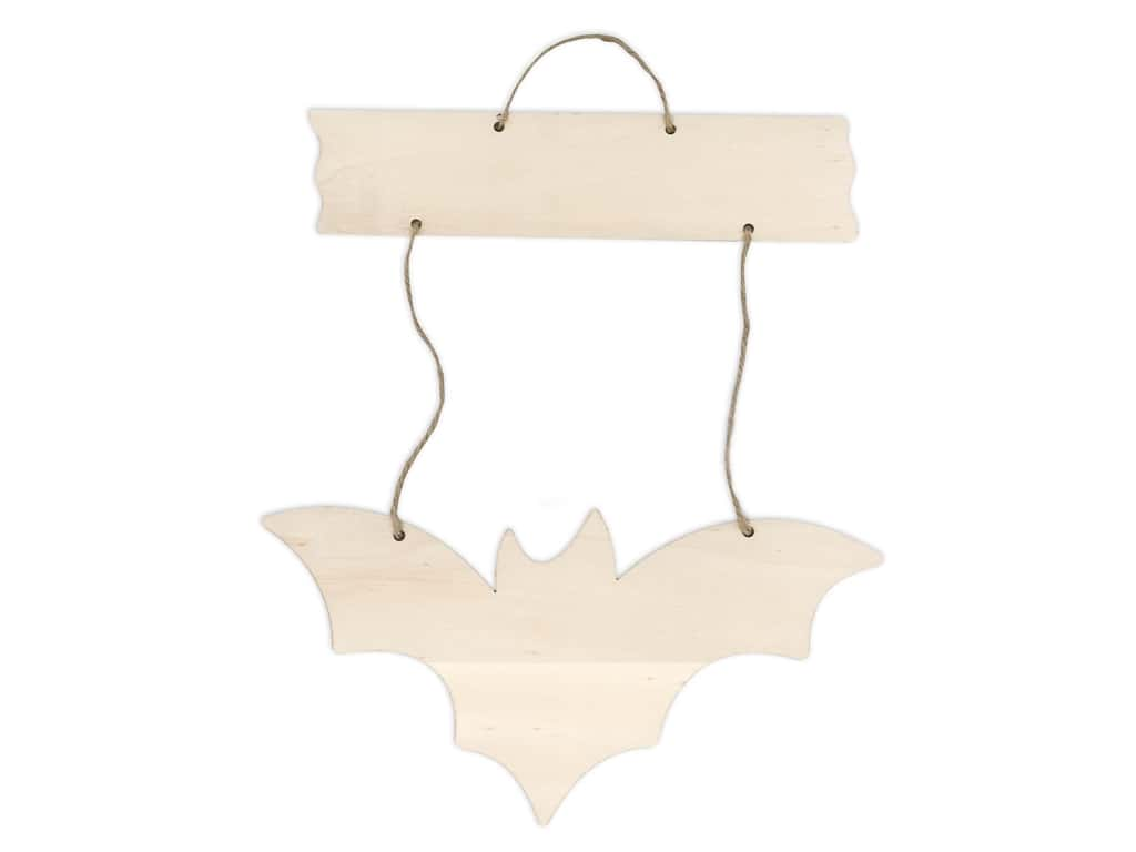Darice Wood Halloween Sign Hanging Bat