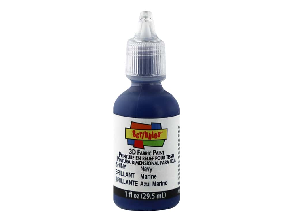 Scribbles 3D Fabric Paint 1 oz. Shiny Navy