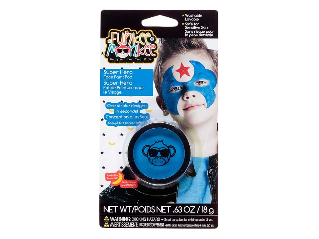 Funkee Munkee Face Paint Pod .63 oz Blue