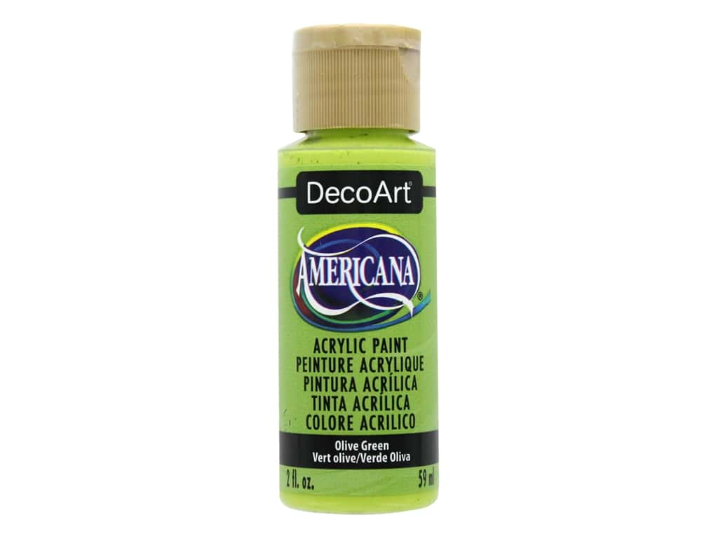 DecoArt Americana Acrylic Paint - #056 Olive Green 2 oz.