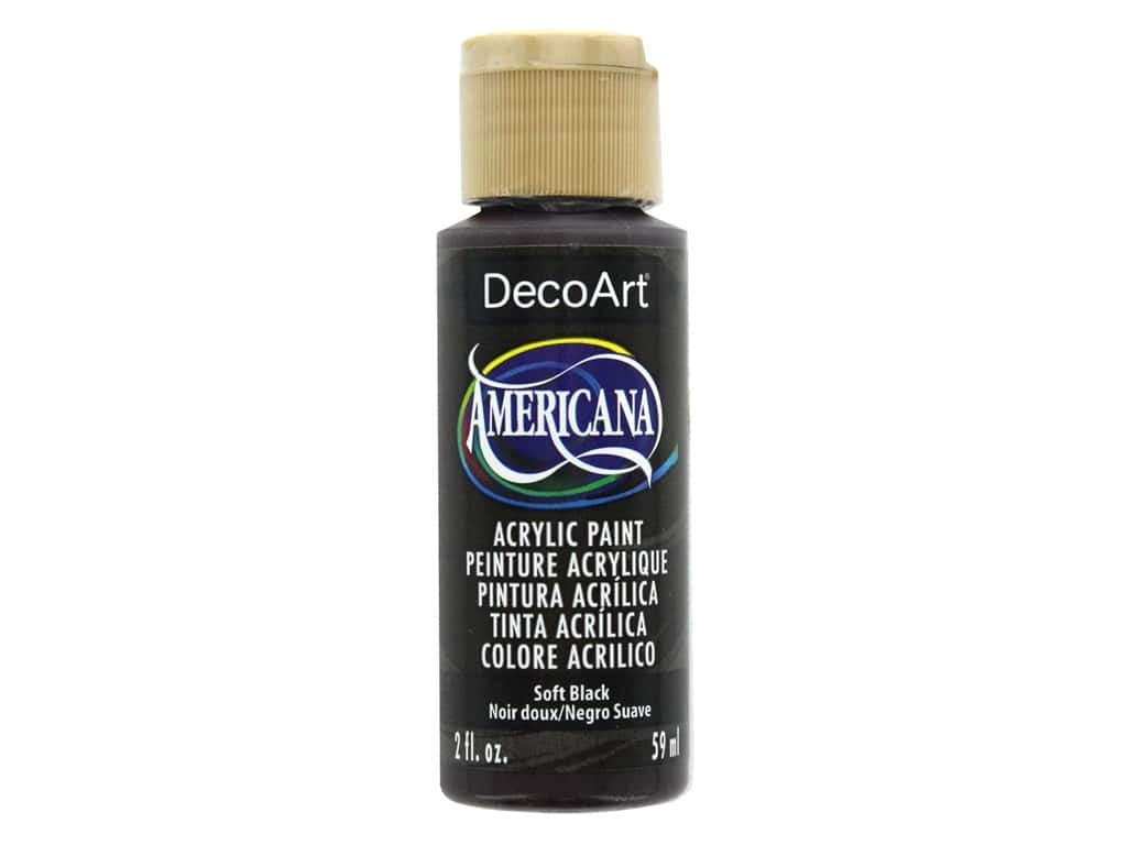 DecoArt Americana Acrylic Paint 2 oz. #155 Soft Black