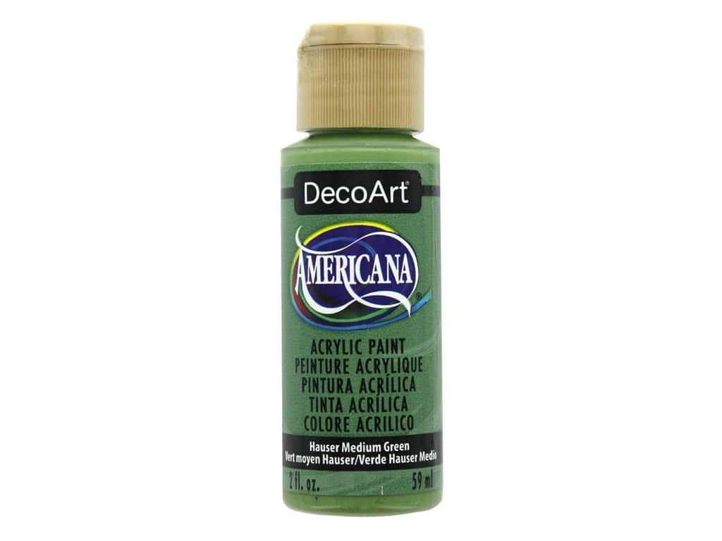 DecoArt Americana Acrylic Paint - #132 Hauser Medium Green 2 oz.