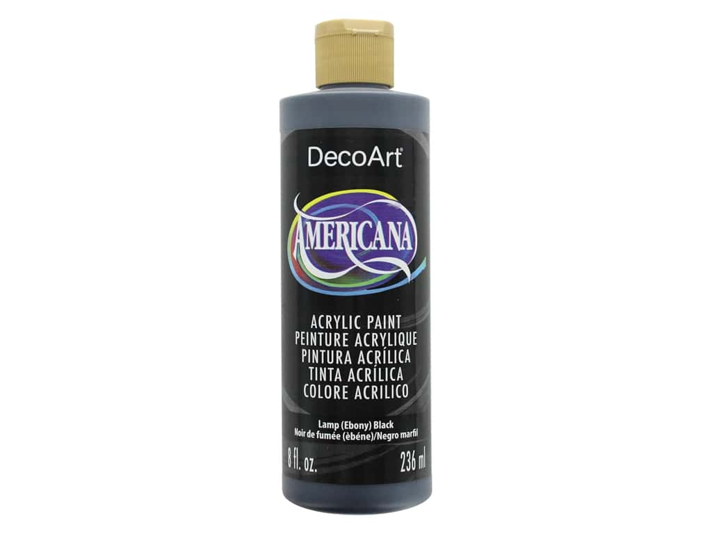 DecoArt Americana Acrylic Paint - #67 Lamp Black 8 oz.
