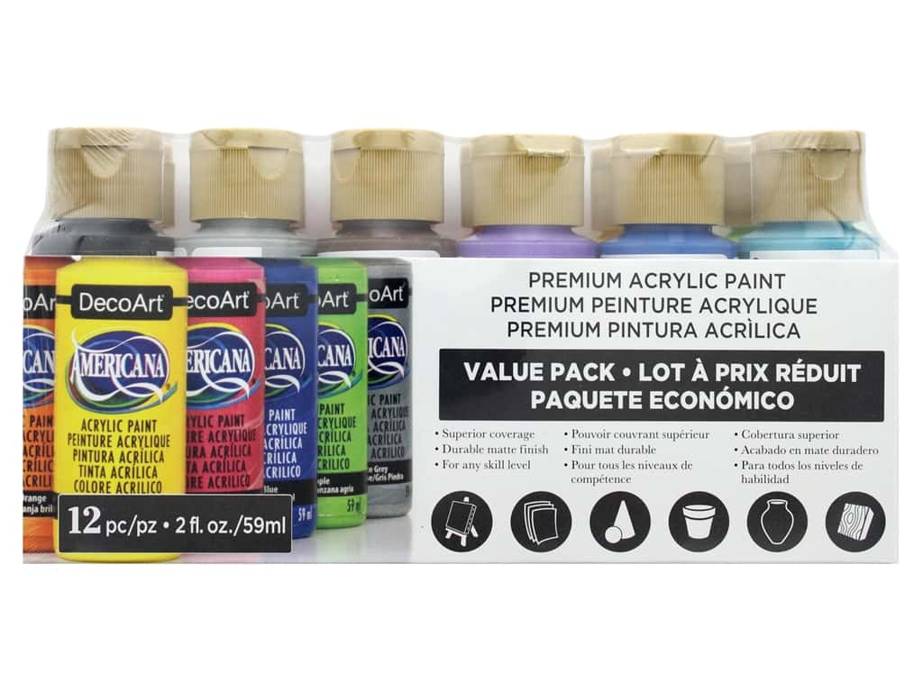 DecoArt Americana Acrylic Paint - Value Pack 12 pc.