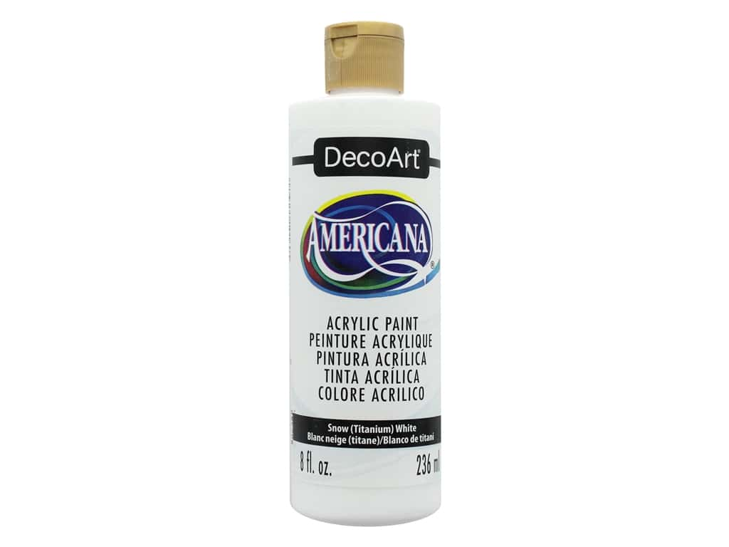 DecoArt Americana Acrylic Paint - #1 Snow White 8 oz.