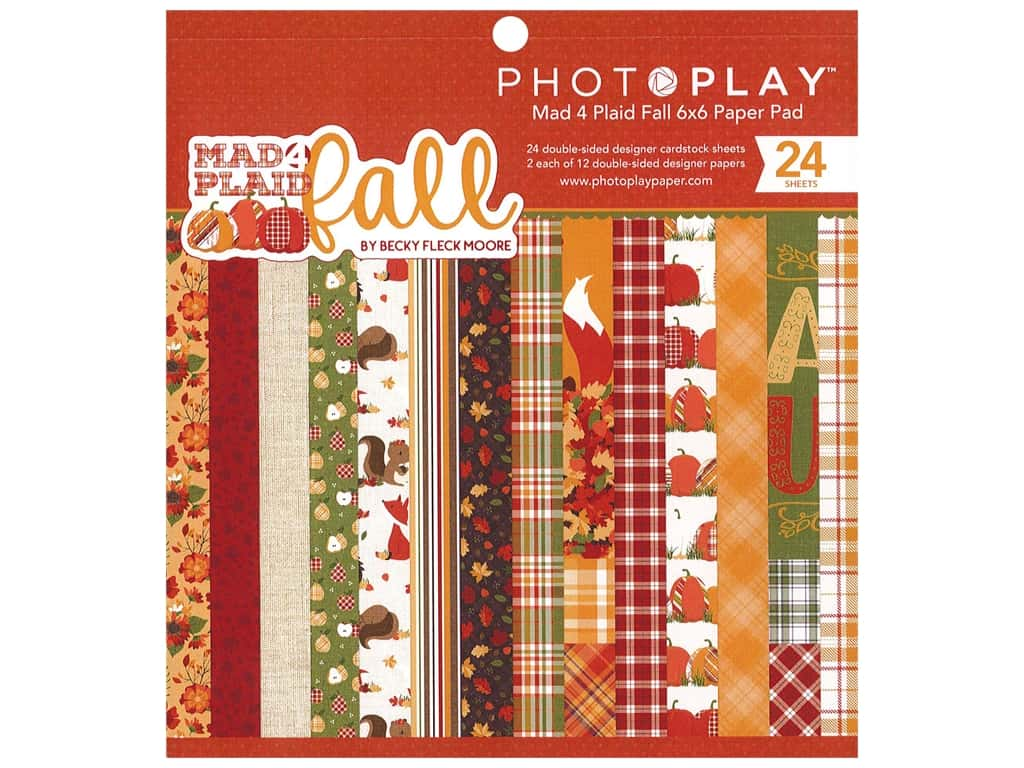 Photo Play Collection Mad 4 Plaid Fall Paper Pad 6 in. x 6 in.