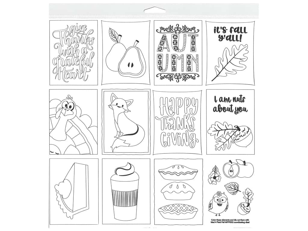 Photo Play Collection Mad 4 Plaid Fall Paper 12 in. x 12 in. Color Me Sheet (25 pieces)