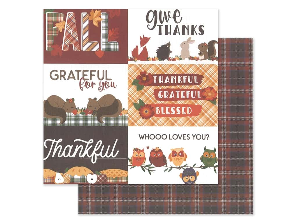 Photo Play Collection Mad 4 Plaid Fall Paper 12 in. x 12 in. Give Thanks (25 pieces)