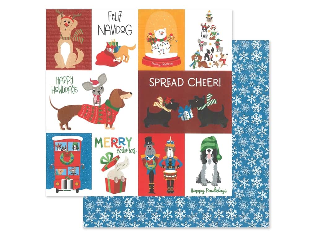 Photo Play 12 x 12 in. Paper Muttcracker Feliz Navidog (25 pieces)