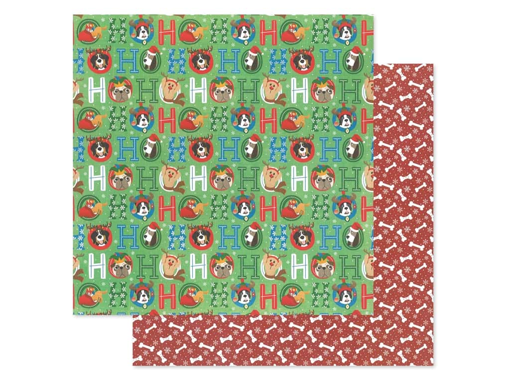 Photo Play 12 x 12 in. Paper Muttcracker Ho Ho Ho (25 pieces)
