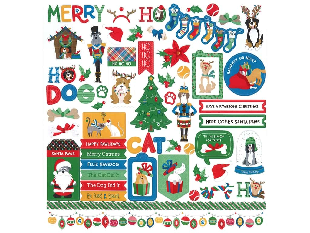 Photo Play Collection Muttcracker Sticker Element 12 in. x 12 in. (12 pieces)