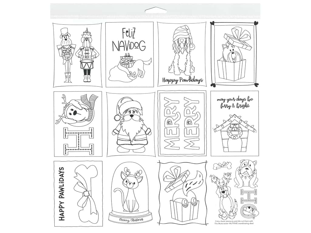 Photo Play 12 x 12 in. Paper Muttcracker Color Me Sheet (25 pieces)