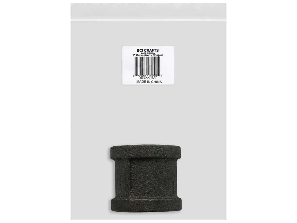 BCI Crafts Galvanized Pipe Coupler 1 in. Black