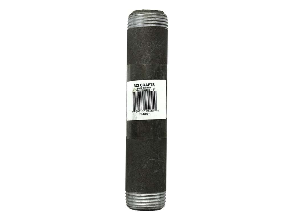 "BCI Crafts Galvanized Pipe 1""x 6"" Black"