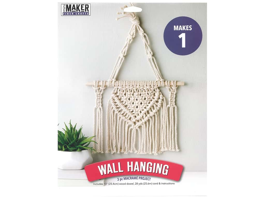 Leisure Arts Mini Maker Macrame Wall Hanging Kit