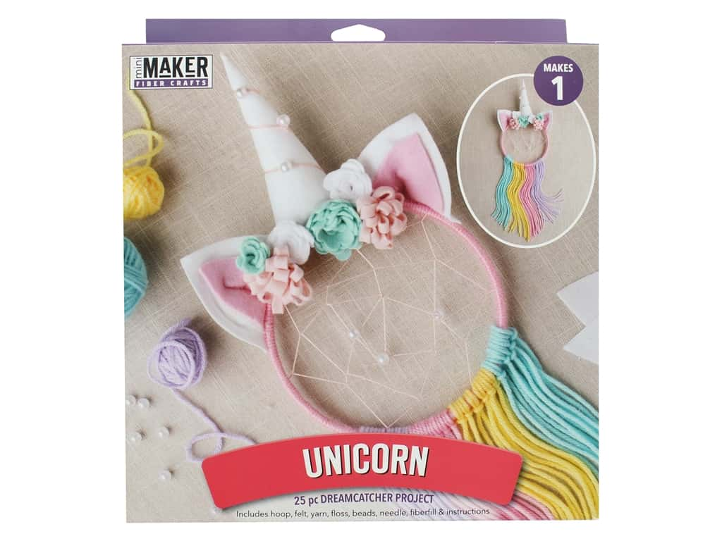 Leisure Arts Mini Maker Kit Dreamcatcher Unicorn