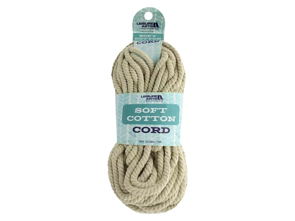 Leisure Arts Cotton Cord 75 ft Natural