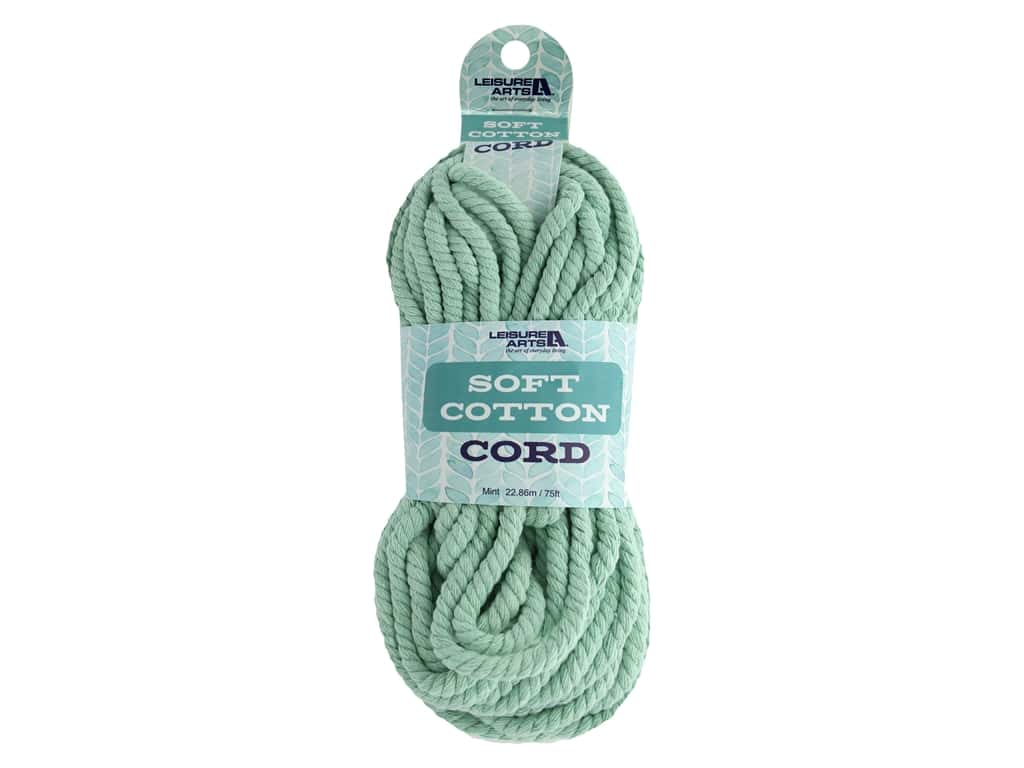 Leisure Arts Cotton Cord 75 ft Mint