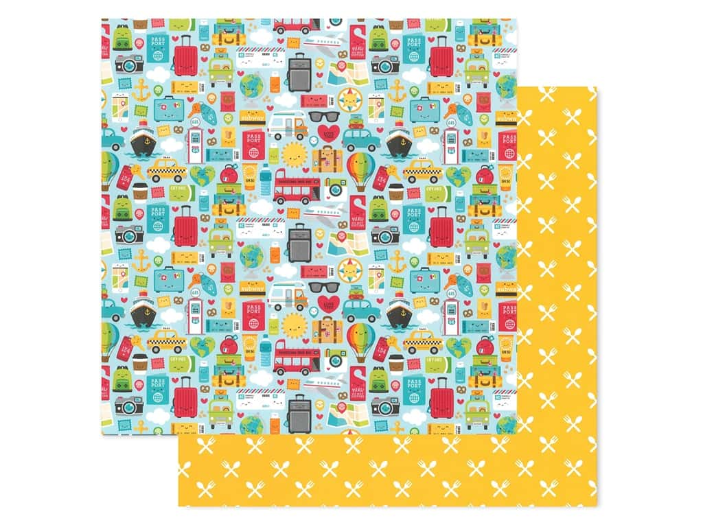 Doodlebug Collection I Heart Travel Paper 12 in. x 12 in. (25 pieces)