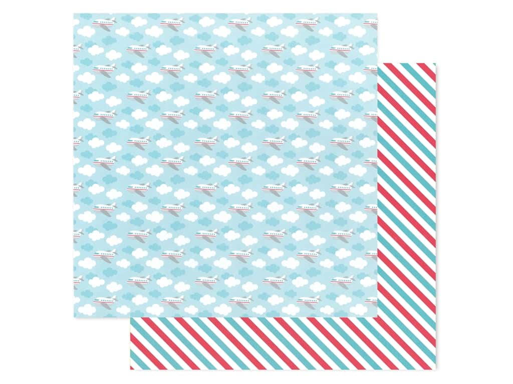 Doodlebug Collection I Heart Travel Paper 12 in. x 12 in. Fly Away (25 pieces)