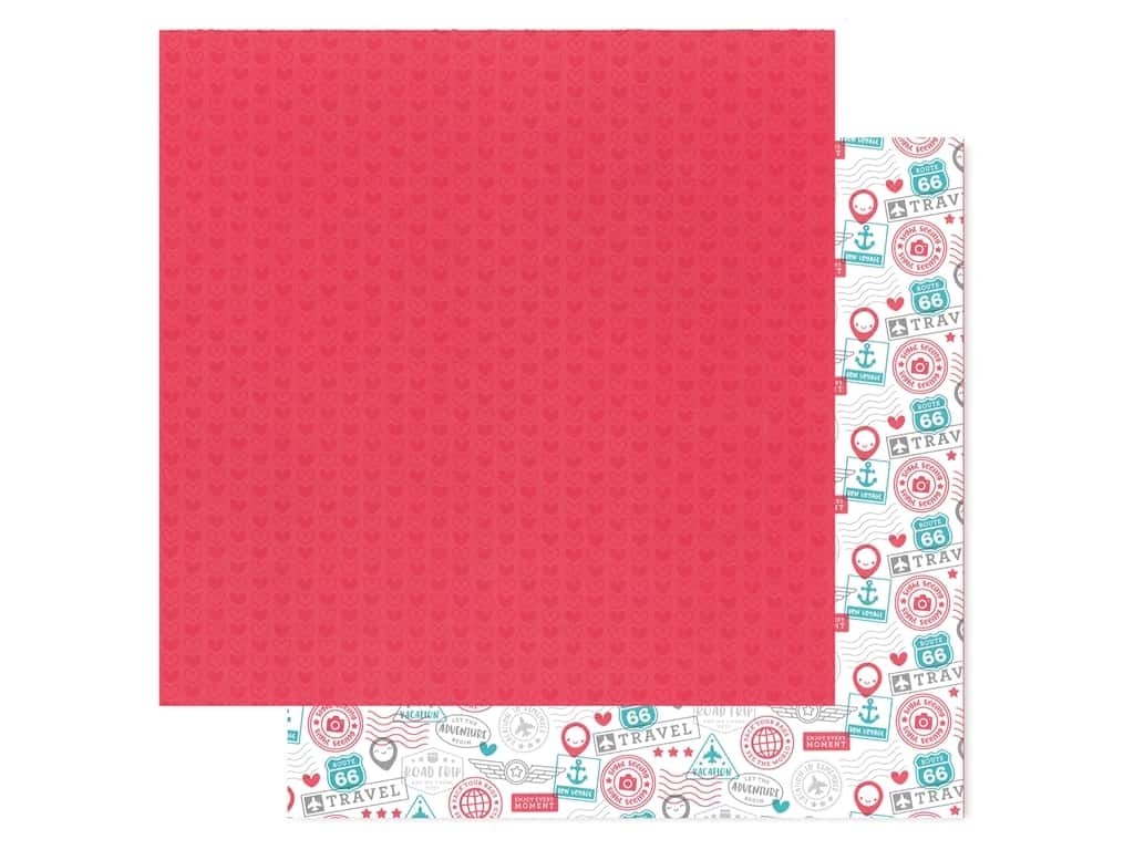 Doodlebug Collection I Heart Travel Paper 12 in. x 12 in. Love This (25 pieces)