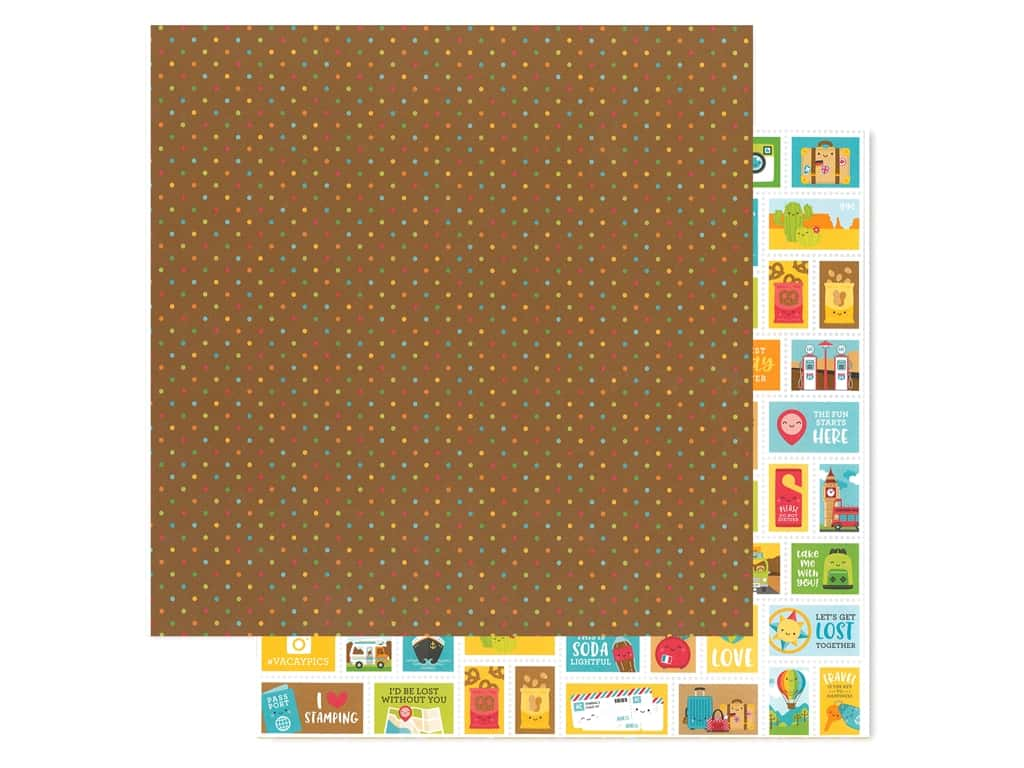 Doodlebug Collection I Heart Travel Paper 12 in. x 12 in. Scenic Spot (25 pieces)